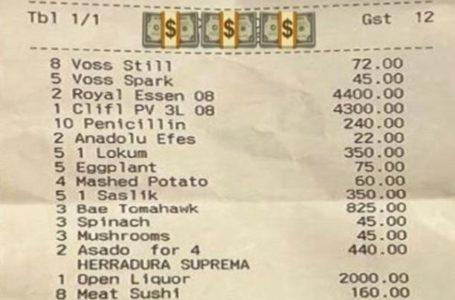 """41 ألف دولار فاتورة طعام بمطعم الطاهي التركي الشهير """"نصرت"""""""